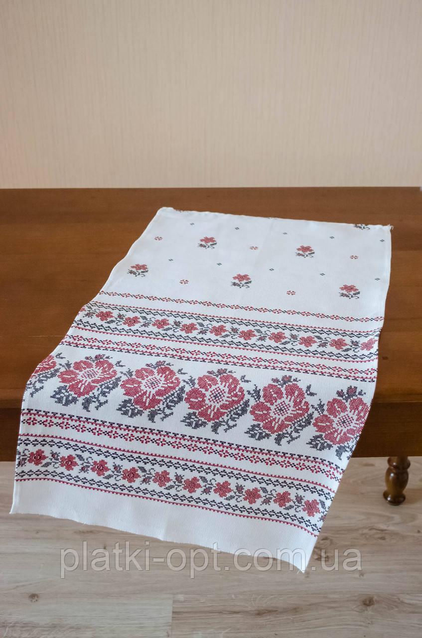 """Полотенце льняное большое """"Белый орнамент"""""""