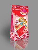Подарочная коробка для конфет с открыткой, Презент, 300 грамм