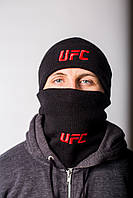 Комплект шапка+бафф UFC, цвет черный, фото 1