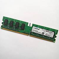 Оперативная память MIX Crucial DDR2 1Gb 800MHz PC2 6400U 1R8/2R8 CL6 Б/У, фото 1