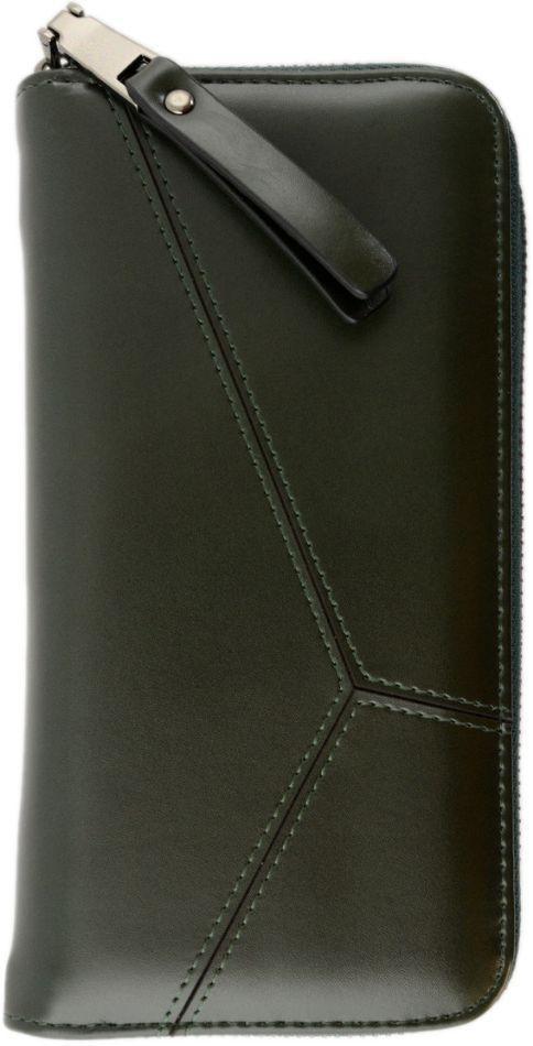 Бумажник женский кожезам Traum 7202-18, темно-зеленый
