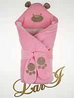 "Конверт-ковдра на виписку ""Панда"" рожевий, зима"