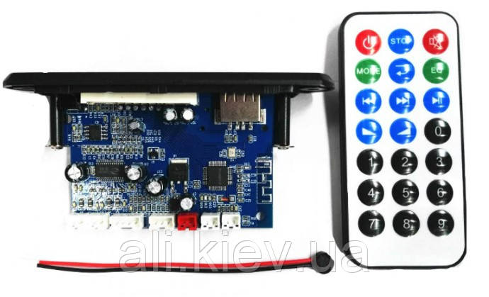 Мультиплеер с усилителем 2*10Вт USB TF FM AUX Mic Bluetooth 4.2 12 -24V  D-класс Підсилювач  аудио плата мікро