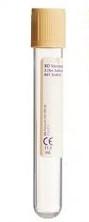 Пластиковая пробирка BD Vacutainer® для анализа мочи с бежевой крышкой Hemogard™, 11мл, 16x100мм