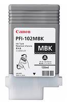 Картридж для плоттера PFI-102MBK Matt Black для iPF500/ 600/ 700 series, черный матовый, 130 мл (0894B001)