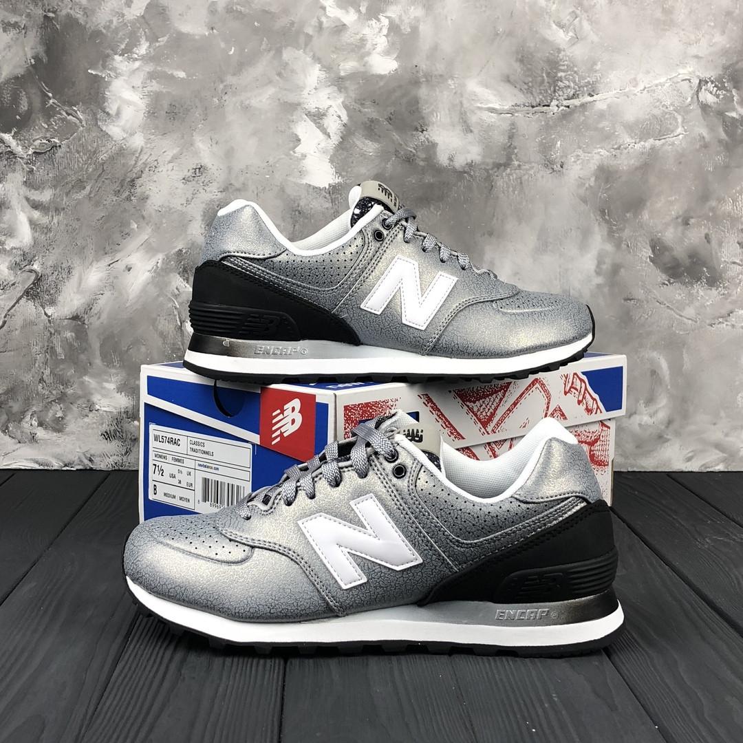 dafeb5cfd1aaf6 Женские кроссовки New Balance 574 Silver. Оригинал. Кожа. Полиуретан -  Интернет-магазин