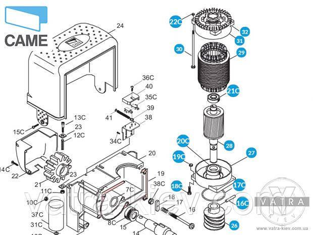 мотор автоматики Came bk1800 119ribk020 купить цена