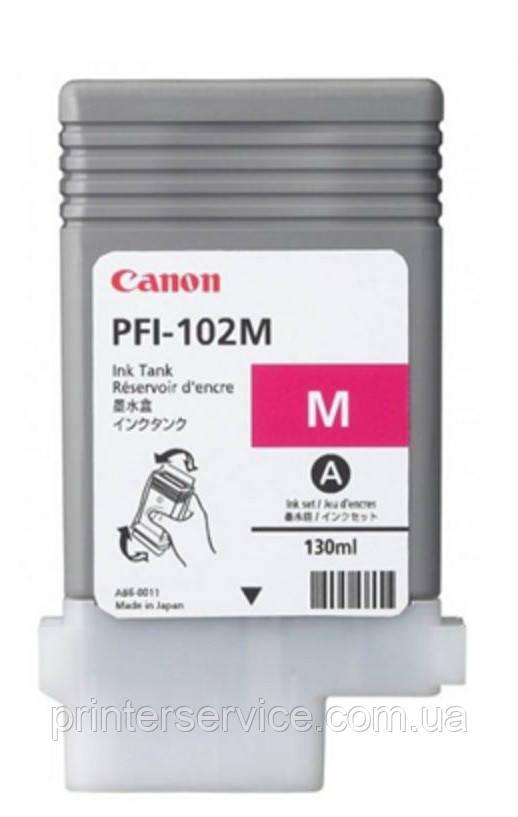 Картридж PFI-102M Magenta для iPF500/600/700, пурпурный, 130мл (0897B001)