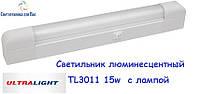 Люминесцентный мебельный светильник Ultralight TL3011 15W белый с выкл 518*65*35