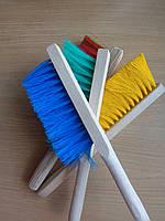 Щётка смётка 3- рядная на деревянной ручке 20 см, фото 1