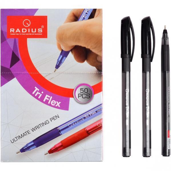 Ручка «TriFlex PL» RADIUS 50 штук, черная
