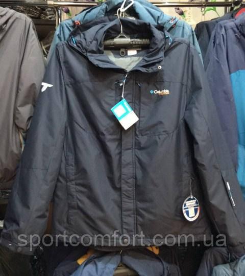 Куртка Columbia мужская чёрная с голубым; синяя с голубым; тёмно-синяя с красным; чёрная с красным; хаки