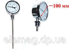 100 °С Биметаллический термометр WSS-411 Циферблат диаметром:10 см