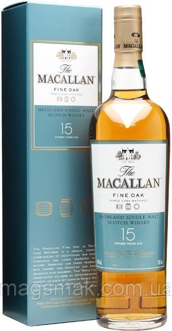 Виски Macallan Fine Oak 15 YO / Макалан Файн Оак 15 лет 43% 0.7л