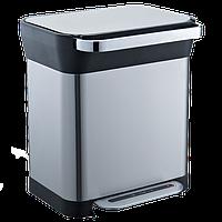 Відро для сміття з педаллю JAH 30 л темно-срібний металік, фото 1