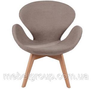 Кресло мягкое Сван коричневое