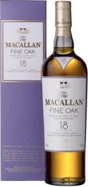 Виски Macallan Fine Oak 18 YO / Макалан Файн Оак 18 лет 43% 0.7л