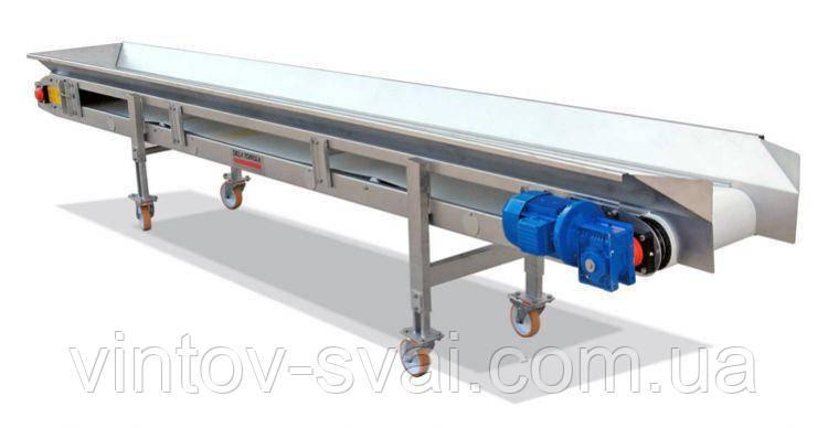 Ленточный конвейер шириной ленты 200 мм, длиной 8 м, 0,75 кВт 380 В