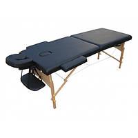 Массажный стол 2-х секционный HouseFit HY-20110 черный
