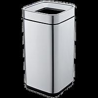 Ведро для мусора JAH 15 л серебряный металлик без крышки и внутреннего ведра, фото 1