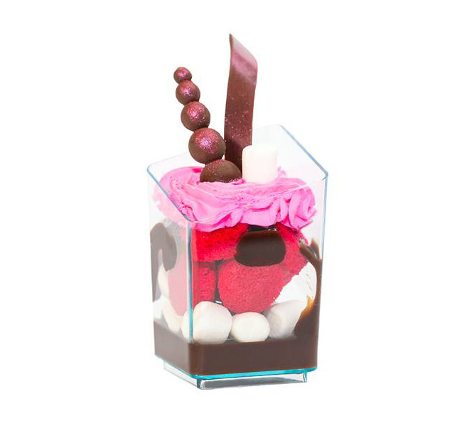 """Прозрачный стакан для десерта """"Призма"""""""