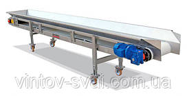 Ленточный конвейер шириной ленты 300 мм, длиной 10 м, 0,75 кВт 380 В