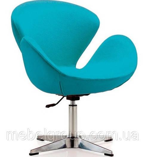Кресло барное Сван голубое