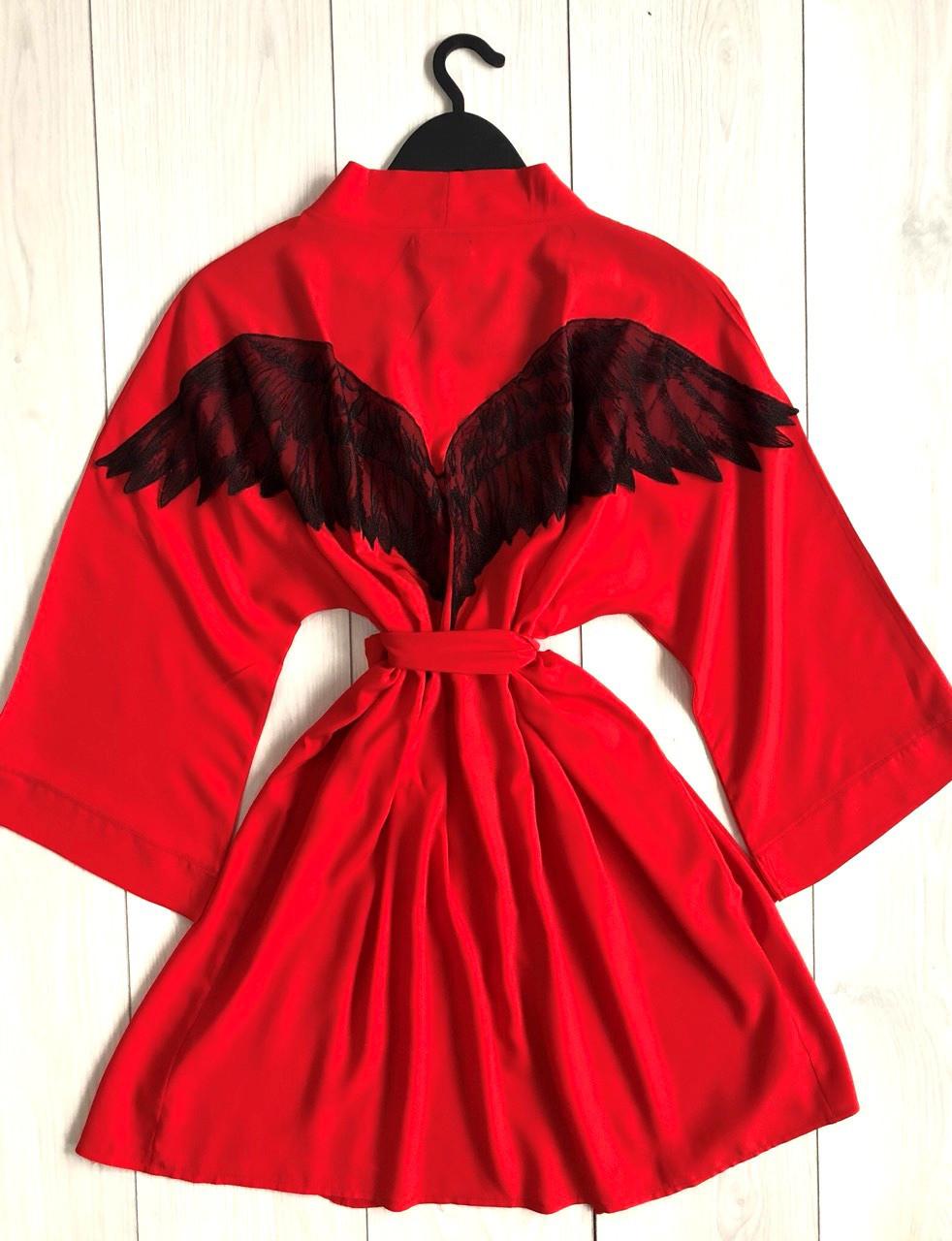 Халат с крыльями красный