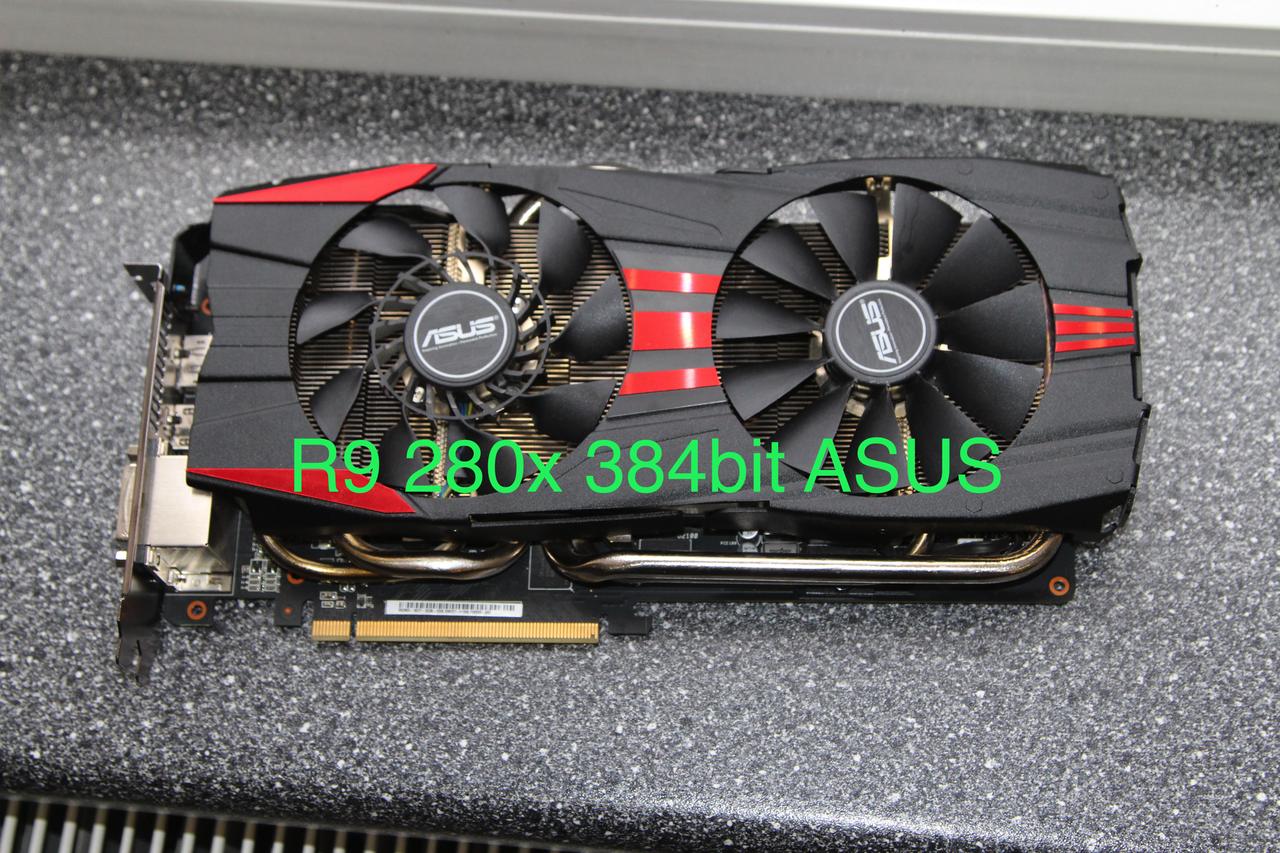 Radeon R9 280x 3Gb 384bit ASUS (1) , видеокарта видеоконтроллер для игр,  r9-290 hd7950 hd7970 - Bigl ua