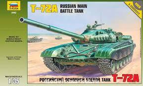 Сборная модель Советский танк Т-72А