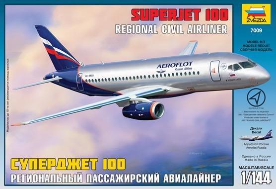 """Пасажирський авіалайнер """"Суперджет 100"""""""