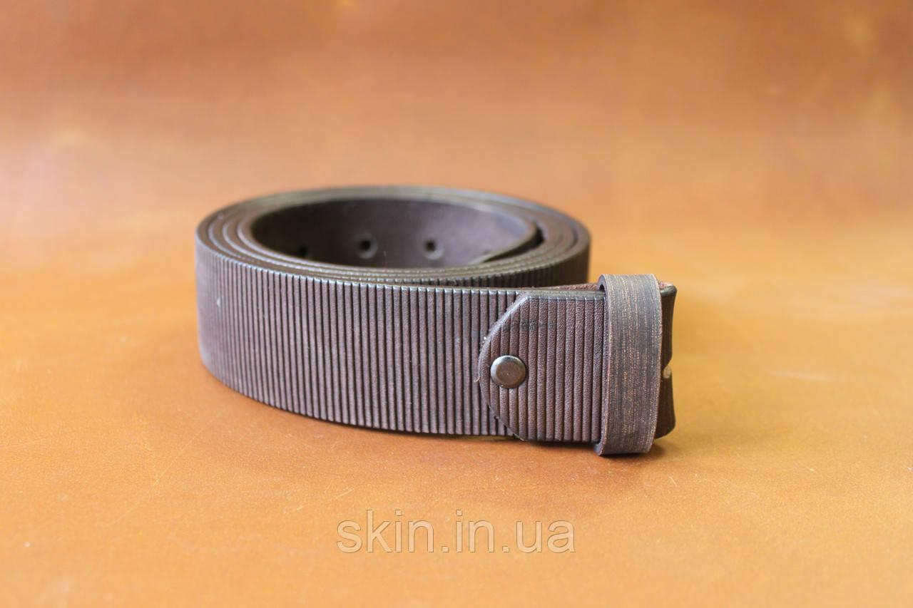 Ремень из натуральной кожи без пряжки шириной 38 мм, коричневый, арт. СКУ 9027.5