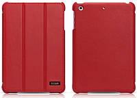 Чехол кожаный для планшета iPad Mini 2 Retina i-Carer Ultra thin red
