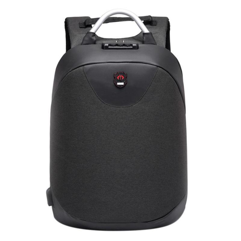 Рюкзак  с USB-разъемом и таможенным замком Aizhiyi черный.(AV151/1)