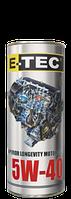 Масло моторное E-TEC 5W-40 Turbo Diesel CH-4 1лит