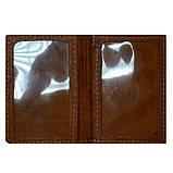 Обложка на автомобильные документы (натур. кожа, цвет: коричневый), фото 2