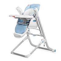 Стульчик для кормления синий питание от сети и батареек CARRELLO Triumph 10302/1 деткам от рождения до 3 лет