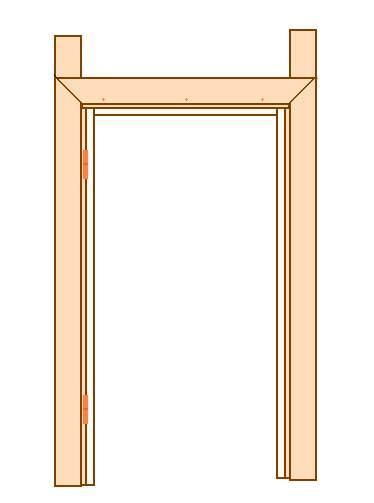 Наличник деревянный для дверей (цельный) (Смерека)