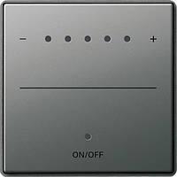Накладка сенсорная для светорегулятора Sys 2000 Gira E22 под сталь (226020)