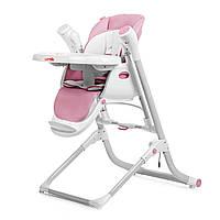 Стульчик для кормления розовый питание от сети и батареек CARRELLO Triumph 10302/1 деткам от рождения до 3 лет
