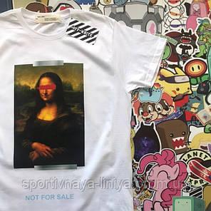 Футболка белая Off-white Mona Lisa • Ориг. бирка • люкс реплика, фото 2