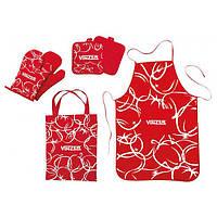 Кухонный текстильный набор 6 предм.  Vinzer 89500, фартук, прихватки