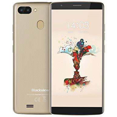 "Смартфон Blackview A20 Pro 2/16Gb Gold, 8+0.3/5Мп, 5.5"" IPS, 2SIM, 4G, 3000мАh, 4 ядра"