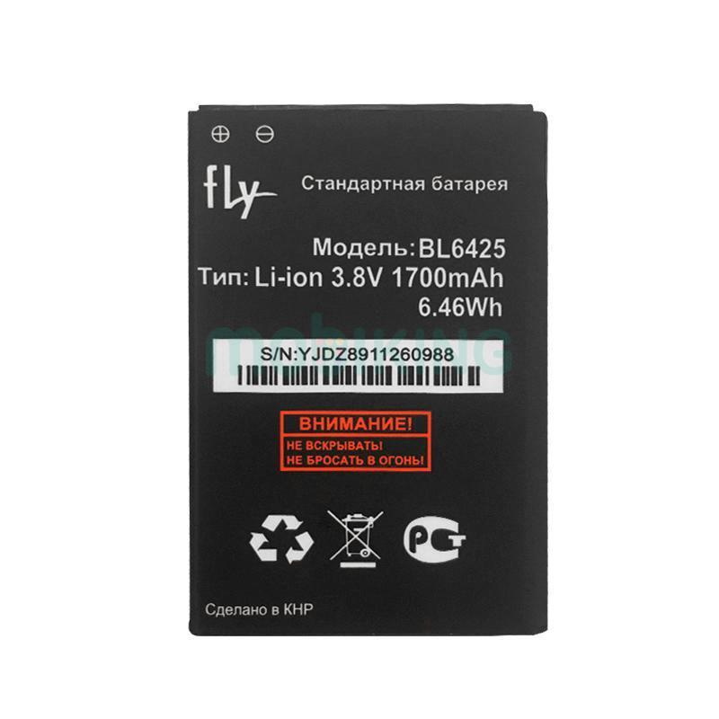 Оригинальная батарея на Fly FS454 (BL6425) для мобильного телефона, аккумулятор для смартфона.