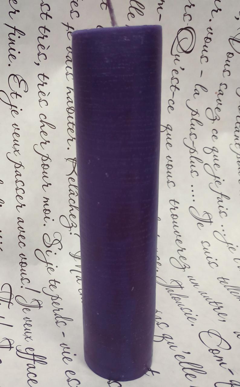 СВЕЧА цилиндр фиолетовая 16см (диам.3,6см)