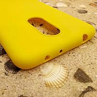 Силиконовый матовый чехол Candy для Xiaomi Redmi 5 (Жёлтый)