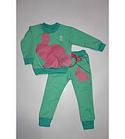 Детский спортивный костюм Зайка для девочки на рост 80-116 см