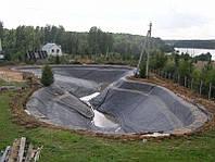 Формирование откосов искусственных водоемов под ключ