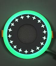 """LED світильник 3+3w """"Зірки"""" з зеленою підсвіткою / LM535 LED панель Lemanso"""