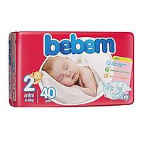 "Подгузники Bebem ""2"" mini 3-6 кг TWIN PACK 40 шт"